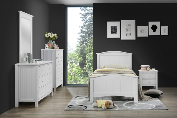 Nicole Series - Single Bed - Bedroom Set - Idea Style Furniture Sdn Bhd